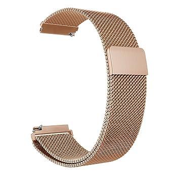 ZGS18 / 20 / 22mm Correa de reemplazo de Banda Smartwatch Hombres y Mujeres Milanese Loop Banda de Cierre magnético de Malla de Acero Inoxidable ...