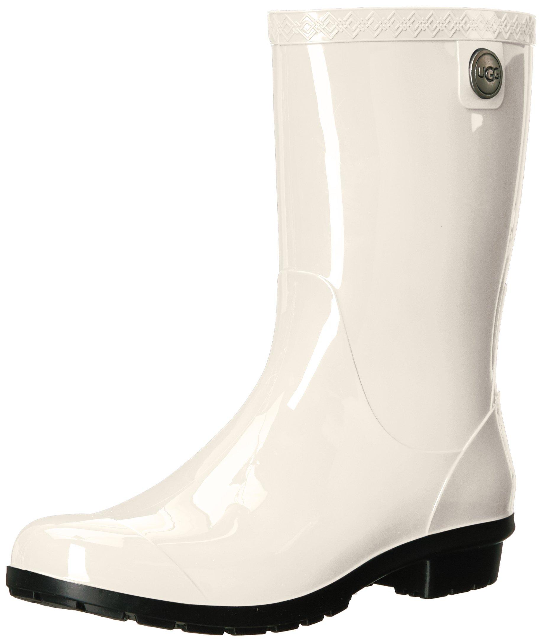 UGG Women's Sienna Rain Shoe, White/Black, 7 M US