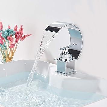 Onyzpily Waschtischarmatur Wasserhahn Bad Armatur Mischbatterie Einhebelmischer Badarmatur Hochdruck Waschbecken For Badezimmer Chrom Amazon De Baumarkt