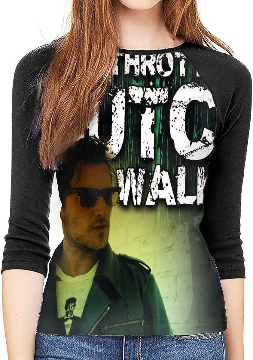 WangSiwe Butch Walker Womens Shirt 3//4 Sleeve Casual Scoop Neck Tops Tee S-XXL Black T-Shirt