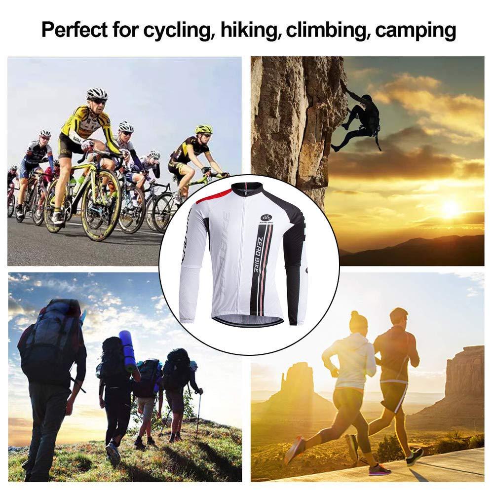 Herren Atmungsaktiv Schnelltrocknend Fahrradtrikot Outdoor Lange /Ärmel Radsport-Shirt