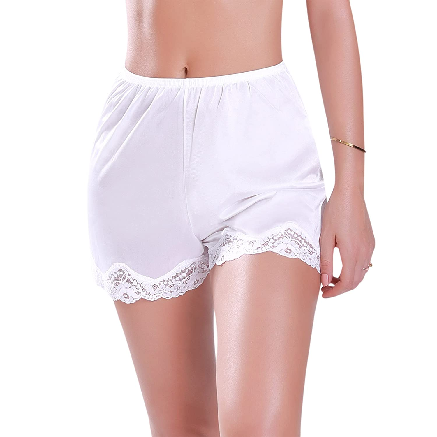 Ilusion 1039 Womens Satin Bloomer Pettipant Short Slip