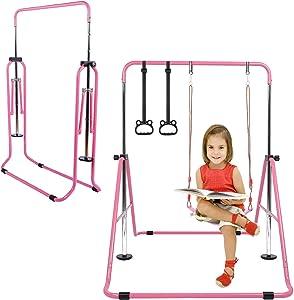 Gymnastics Bars for Kids, Gymnastics Equipment for Home, Folding Horizontal Bars with Adjustable Height, Practice Bar Gymnastic for Kid, Child, Girls, Boys