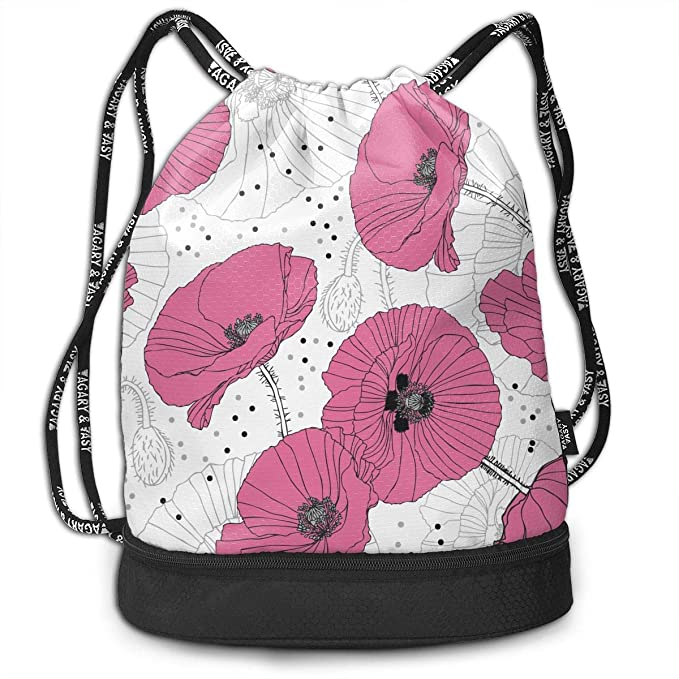 Amazon.com  Flower Seamless Pattern Outdoor Bundle Backpack ... 6ace303ba
