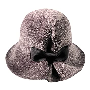 8b0e4f40276dc Women s Solid Color Winter Hat Chenille Bucket with Bow Clearance- Iuhan Women  Winter Keep Warm