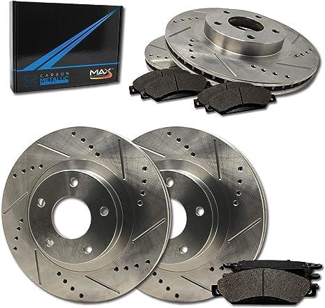 X-Trail Front Drill Slot Brake Rotors+Ceramic Pads Fits 2008-2013 Nissan Rogue