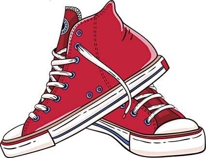 aa33890813e2 Amazon.com  Red Classic Hightop Vintage Converse Drawing Vinyl Decal ...