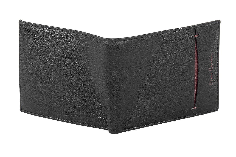 Mini cartera hombre PIERRE CARDIN negro en cuero con monedero A5461: Amazon.es: Ropa y accesorios