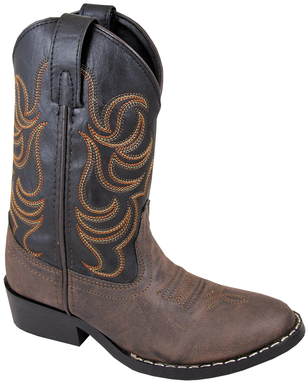 Smoky Child Boy Western Cowboy Boot, Brown, 3.5M