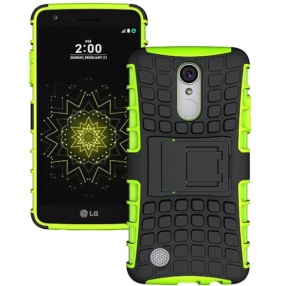 Green Black LG Aristo Case, LG Phoenix 3 Case, LG Risio 2 Case,LG Rebel 2  LTE Case,LG Fortune Case, K8 2017 Case,LUHOURI Hybrid Armor Rugged Heavy