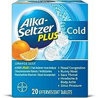 20-Count Alka-Seltzer Plus Cold Effervescent Tabs (Orange)