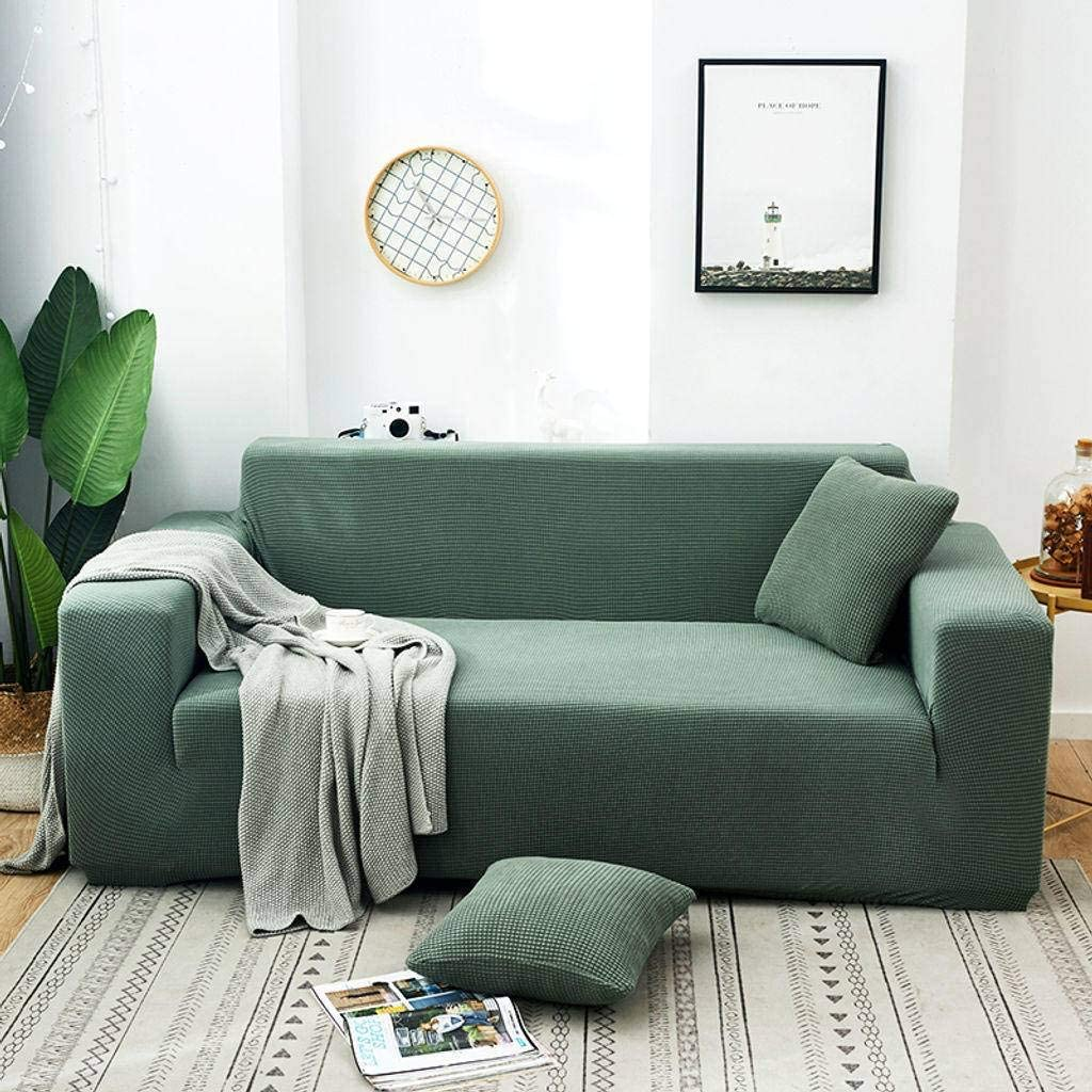 Won-Hom Elástica Sillón Relax Funda De Sofá, Todo Incluido Jacquard Funda Cubre Sofá Anti-Gato Mascotas Protección para Sofá Combinado Sofá De Esquina-2 Plazas 145-185cm-Verde Pino: Amazon.es: Hogar
