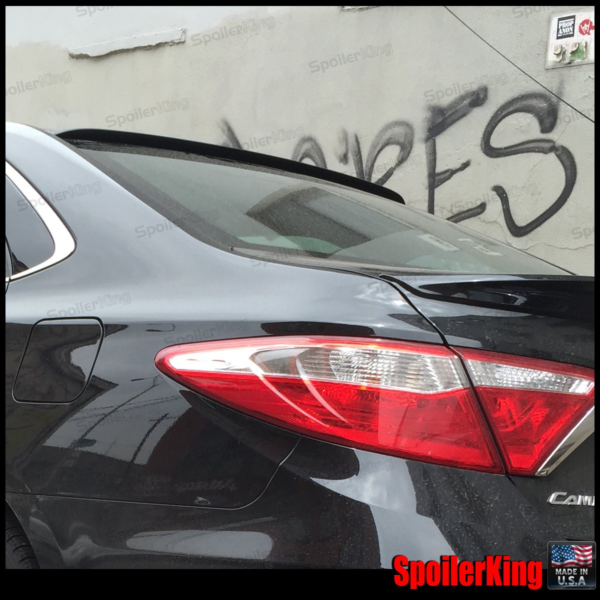-Rear Window Roof Spoiler 15 XV50 FOR Painted Black Color 2012-2017 TOYOTA CAMRY
