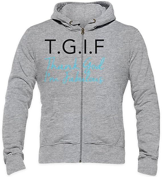 T.G.I.F. Thanks God Im Fabulous Funny Slogan Mens Hoodie XX-Large