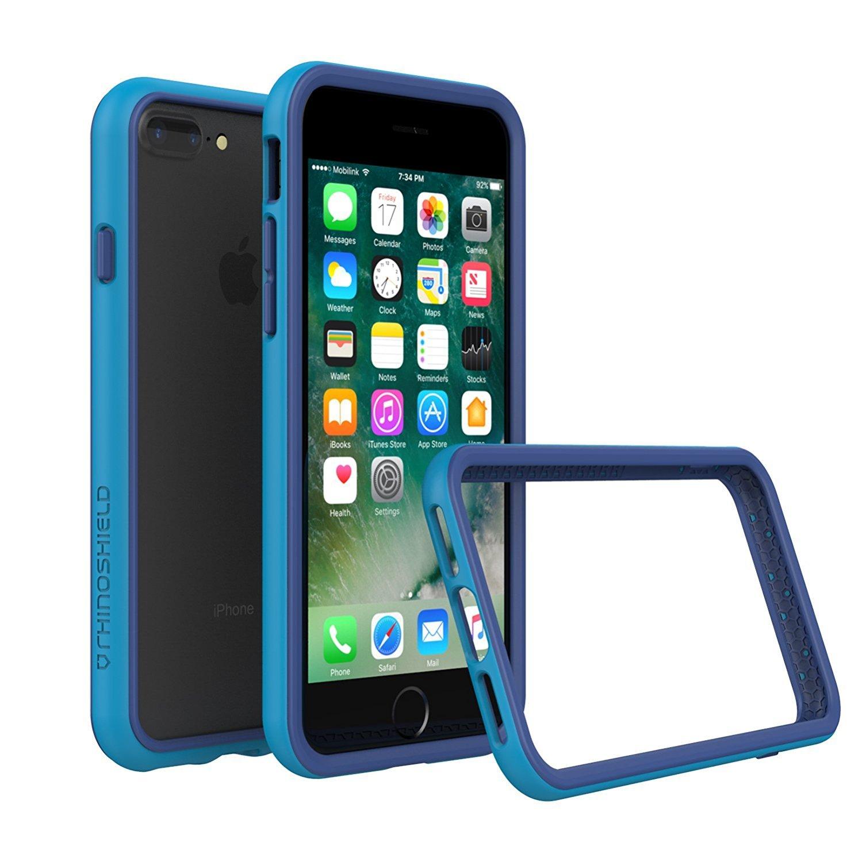 1e0b4c14a7f RhinoShield Bumper Case for iPhone 8 Plus/iPhone 7 Plus [CrashGuard] |  Shock Absorbent Slim Design Protective Cover [3.5 M / 11ft Drop Protection]  - Blue