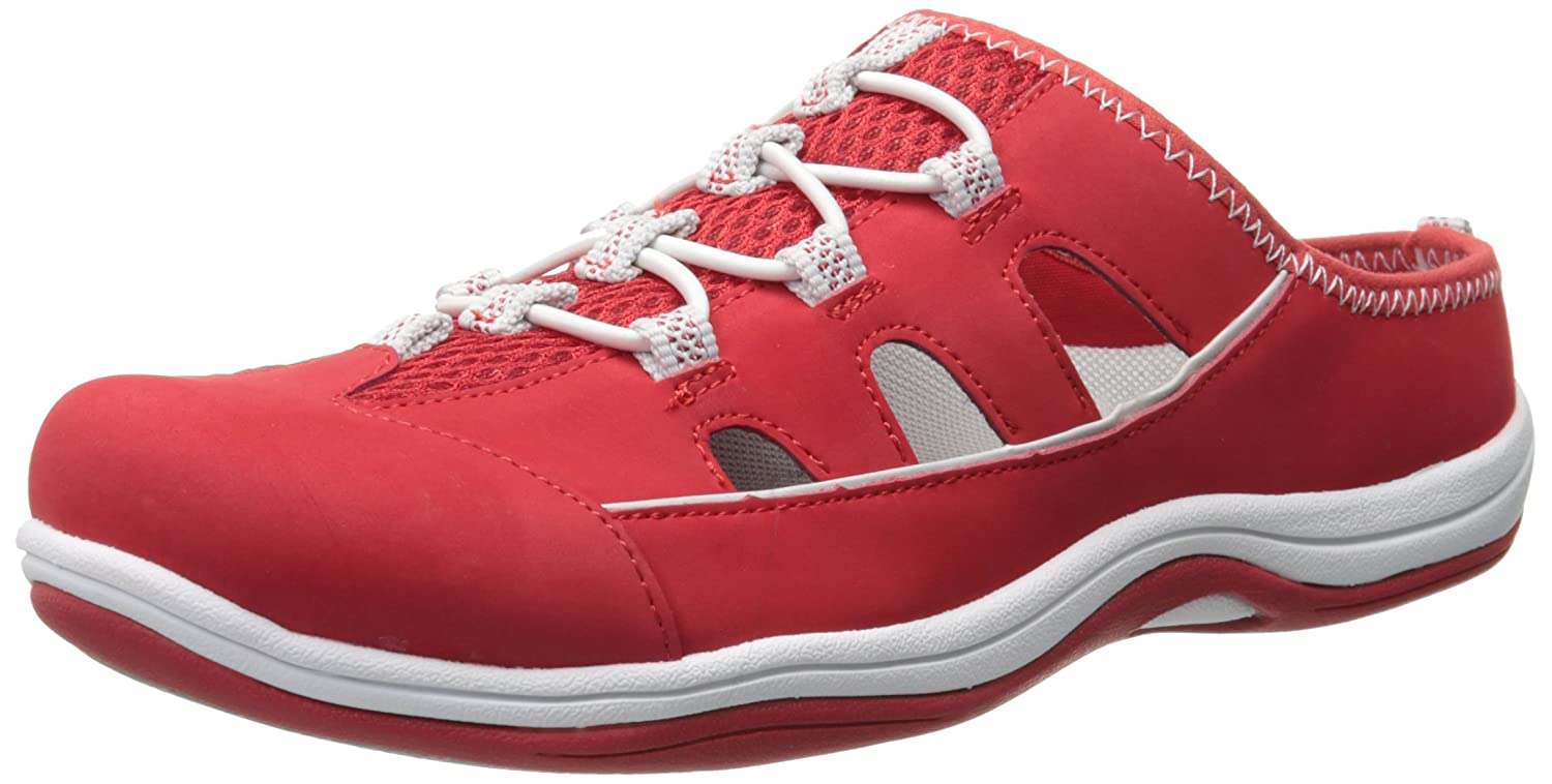 Easy Street Women's Barbara Fashion Sneaker B00RBNT6BS 8.5 B(M) US Red Leather/Fabric