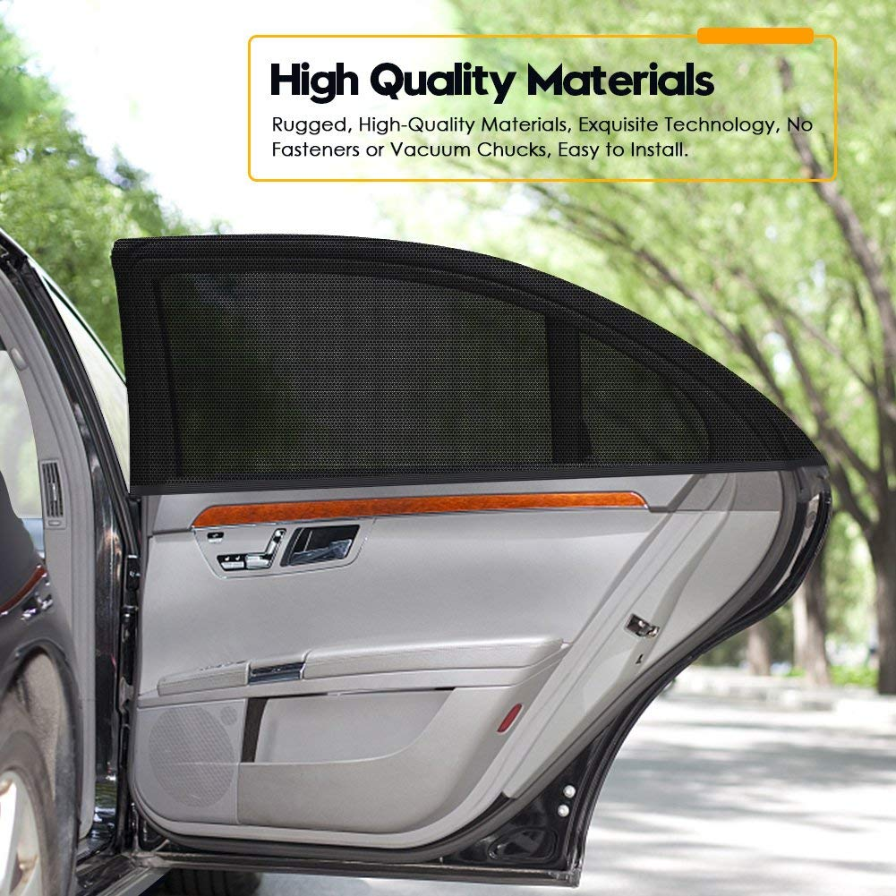 Qualit/á Accessori Auto DYFFLE 2 Pezzi Tendine Parasole Auto Bambini Blocca Il 98/% dei Raggi UV Facile da Installare Parasole Auto Bambini Oscuramento Vetri Auto Parasole Finestrino Auto