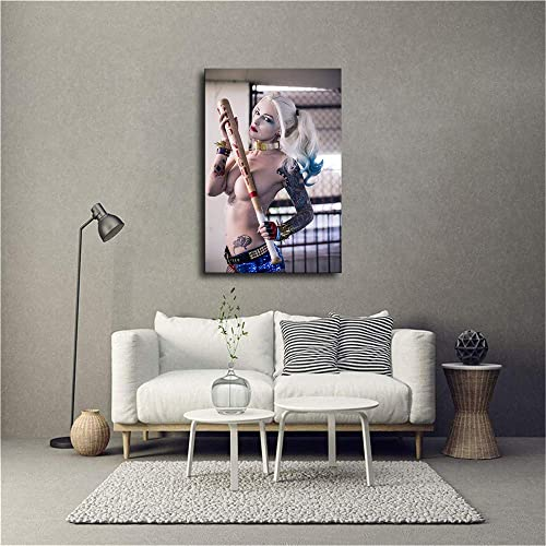 Wall Art Harley Quinn Poster Print on Canvas Home Family Decoration Framed and Unframed Mural