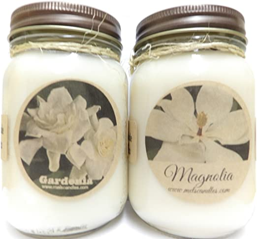 Amazon Com Gardenia Magnolia Set Of Two 16oz Country Jar All