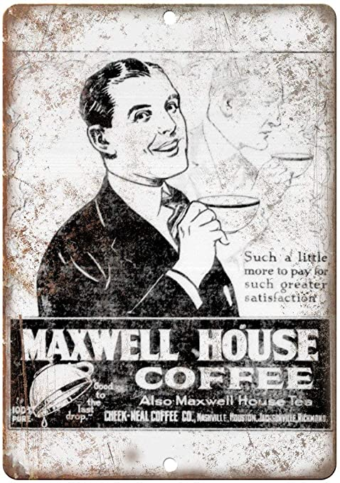 Maxwell House Coffee Póster De Pared Metal Retro Placa ...