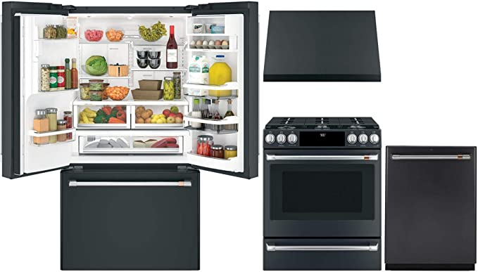 Amazon.com: GE Cafe 4 Piece Smart Kitchen Package ...