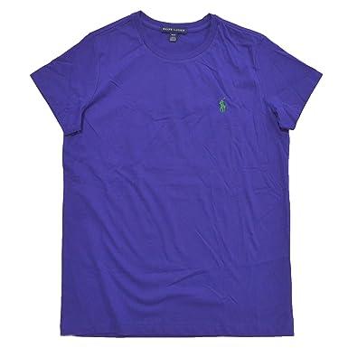 Ralph Lauren Women Crew Neck Ribbed Pony Logo T-shirt at Amazon Women\u0027s  Clothing store:
