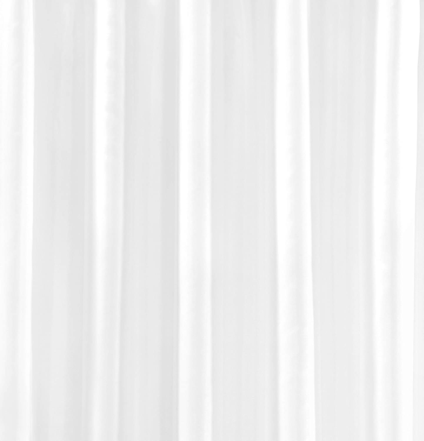 VIBRANT WHITE SHOWER CURTAIN 180CM X 180CM INCLUDES RINGS
