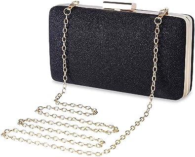 Elegant Ladies Glitter Pleated Clutch Bag Sparkly Handbag Evening Party Prom