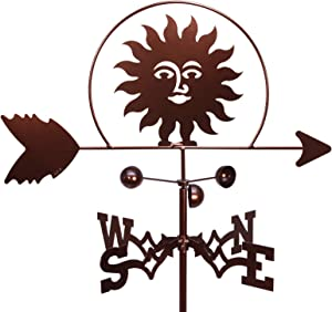 SWEN Products Southwest Sun Weathervane (Garden Stake Included)