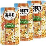 【まとめ買い】 トイレの消臭力 消臭芳香剤 トイレ用 オレンジの香り 400ml×3個