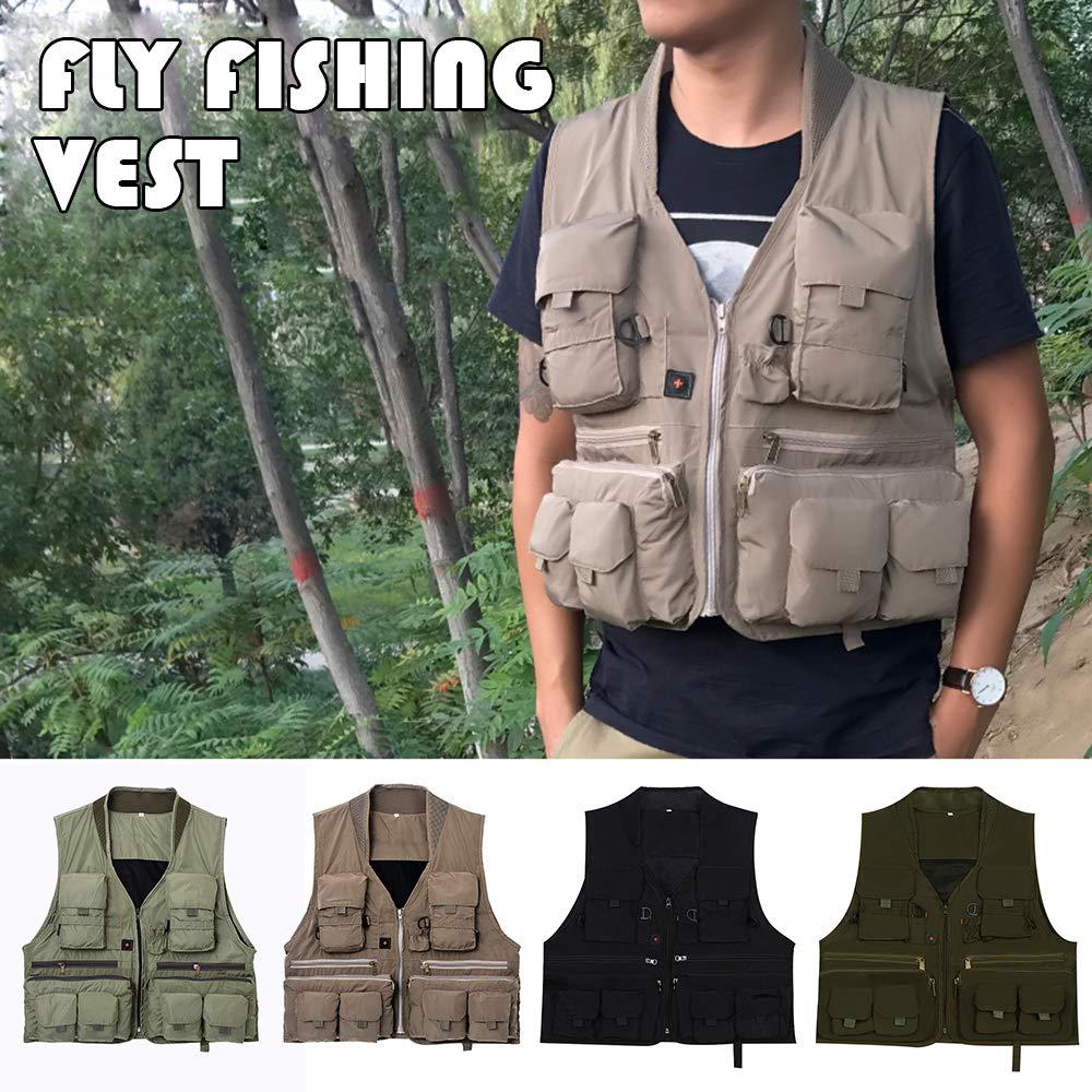 atmungsaktive sommerliche Explopur Fiy Anglerweste schnell trocknende Anglerweste mit Mehreren Taschen
