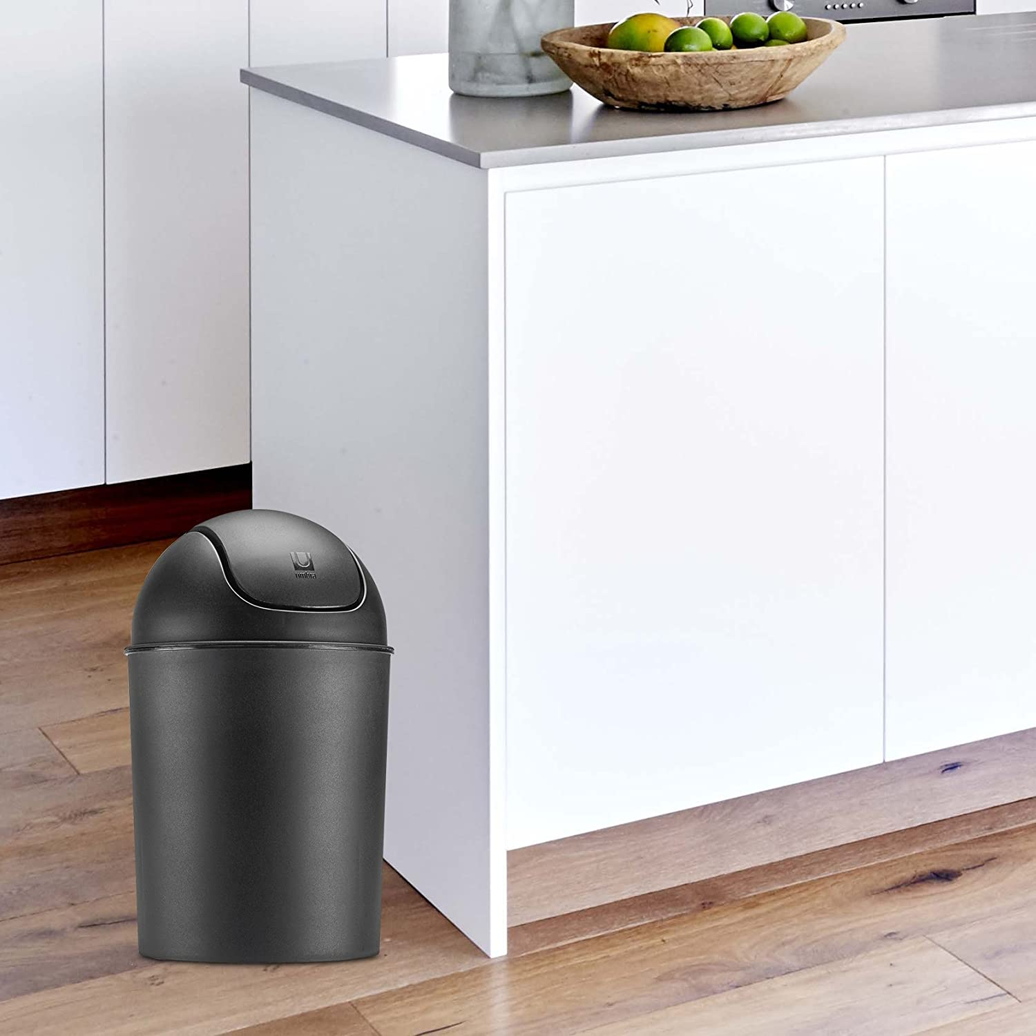Amazon.com: Umbra Mini Waste Can 1-1/2 Gallon with Swing Lid, Matte ...