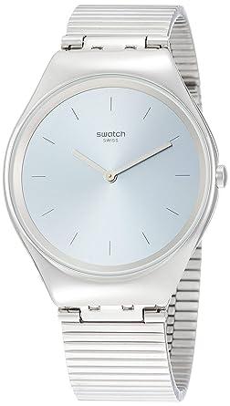 Swatch Reloj Analógico para Unisex Adultos de Cuarzo con Correa en Acero Inoxidable SYXS103GG: Amazon.es: Relojes