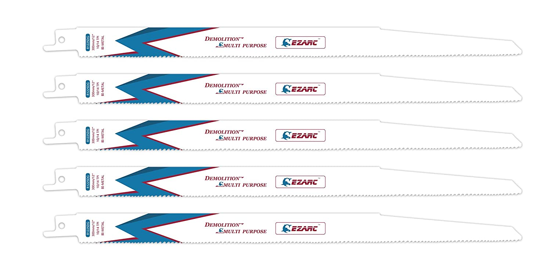 EZARC Hojas de sierra Sable R925DG para Multiusos Demolició n 225mm 10/14TPI (pack de 5)