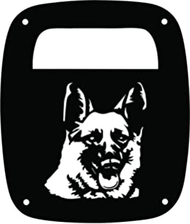 Black Set of 2 JeepTails Pitbull Jeep TJ Wrangler Tail Lamp Covers
