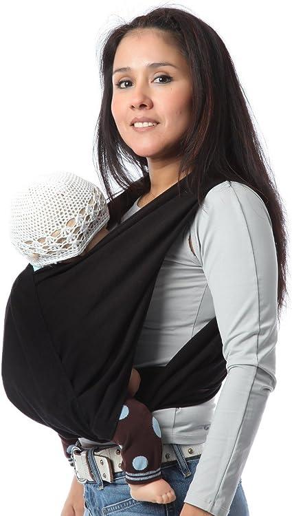 Porte b/éb/é /écharpe de portage sans noeud noir r/églable