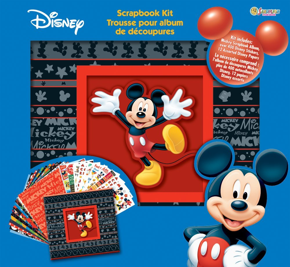 How to scrapbook disney - Amazon Com Sandylion 12 Inch By 12 Inch Disney Mickey Mouse Bo By Ed Scrapbook Album Kit