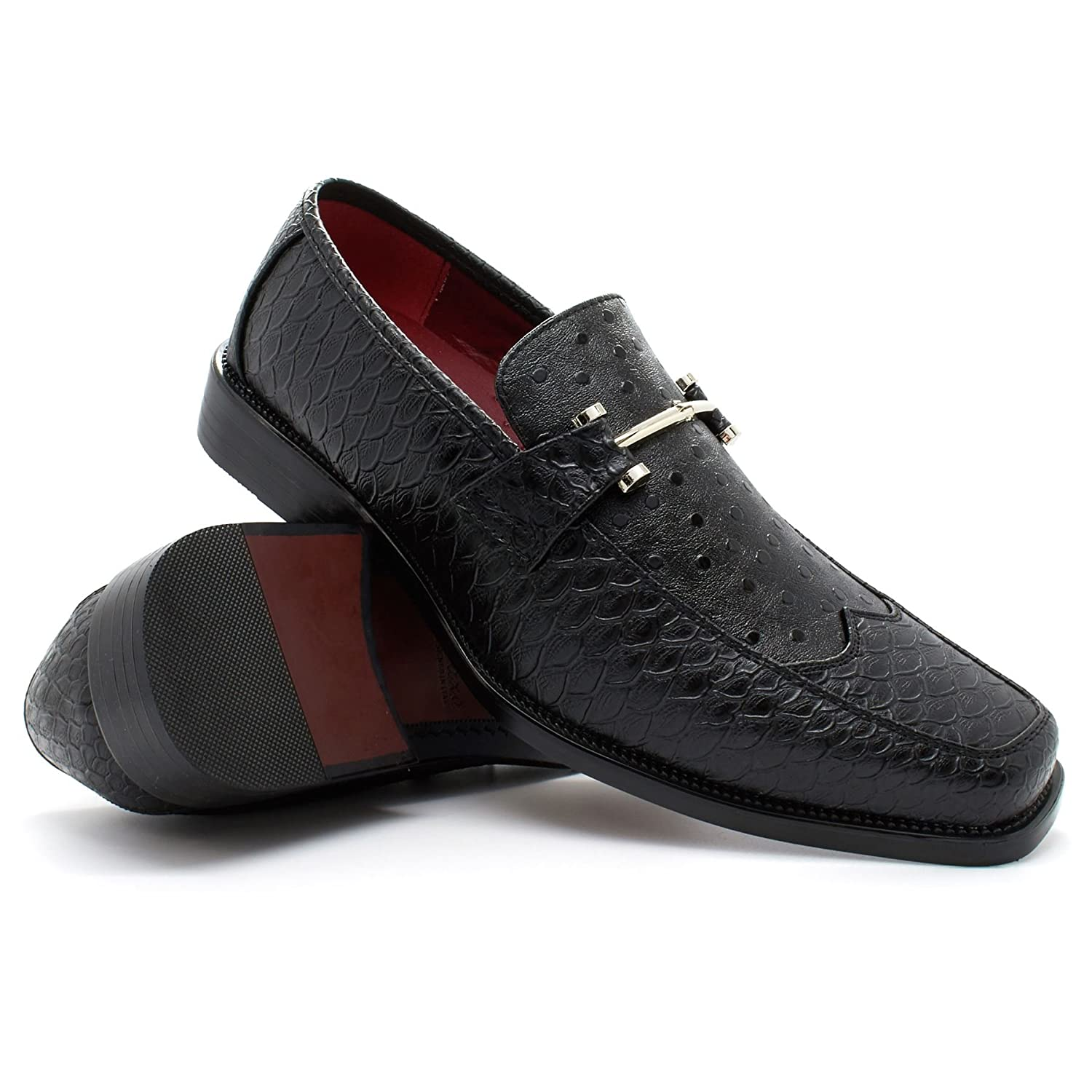 New Mens Italian Style Faux Snakeskin Shoes Formal Wedding Slip On Buckle  6-11: Amazon.co.uk: Shoes & Bags
