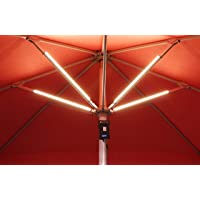Luces para sombrillas recargables Lume 1 touch set de 4, incluye power bank