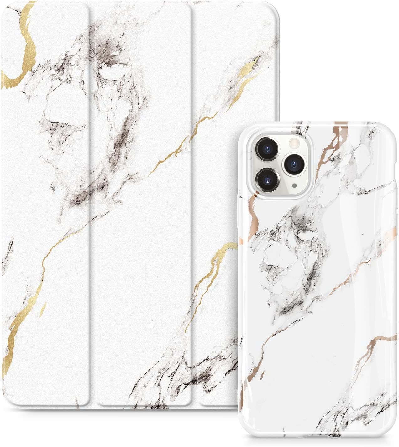 GVIEWIN Marble Case Bundle - Compatible with iPhone 11 Pro Max 6.5