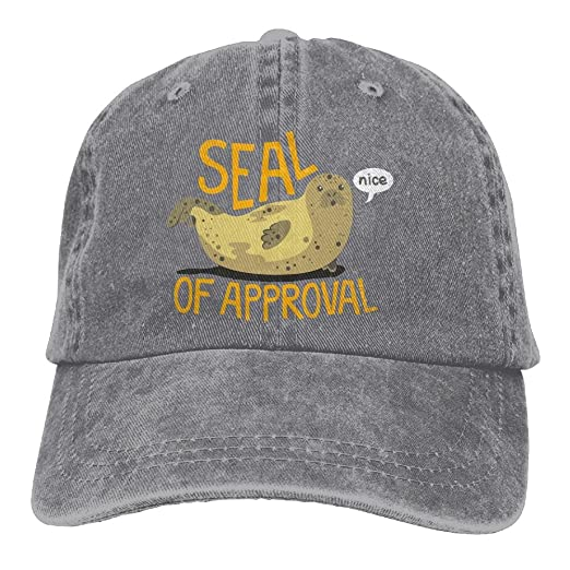 Men s Sea Lion Seal Of Approval Retro Cotton Baseball Cap Washed ... 983ff751359