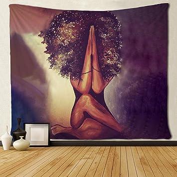 Amazon.com: Sara Nel Tapiz de pared negro arte africano ...