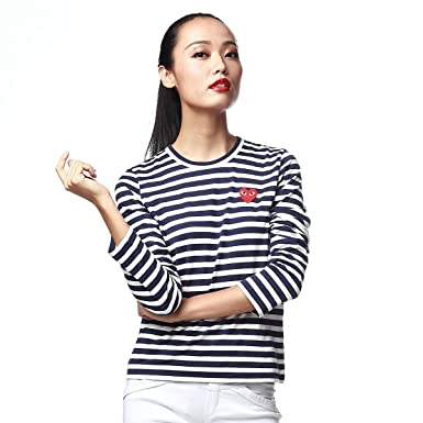 Comme des Garcons - T-Shirt - Femme Bleu Bleu Marine Blanc - Bleu ... 24fa1002d22