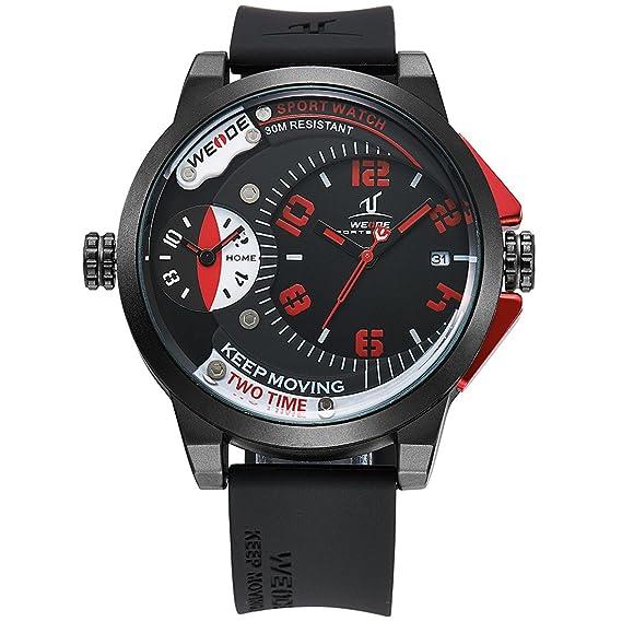 Marca de lujo de Weide Universo serie hombres deporte relojes resistente al agua completa...: Amazon.es: Relojes