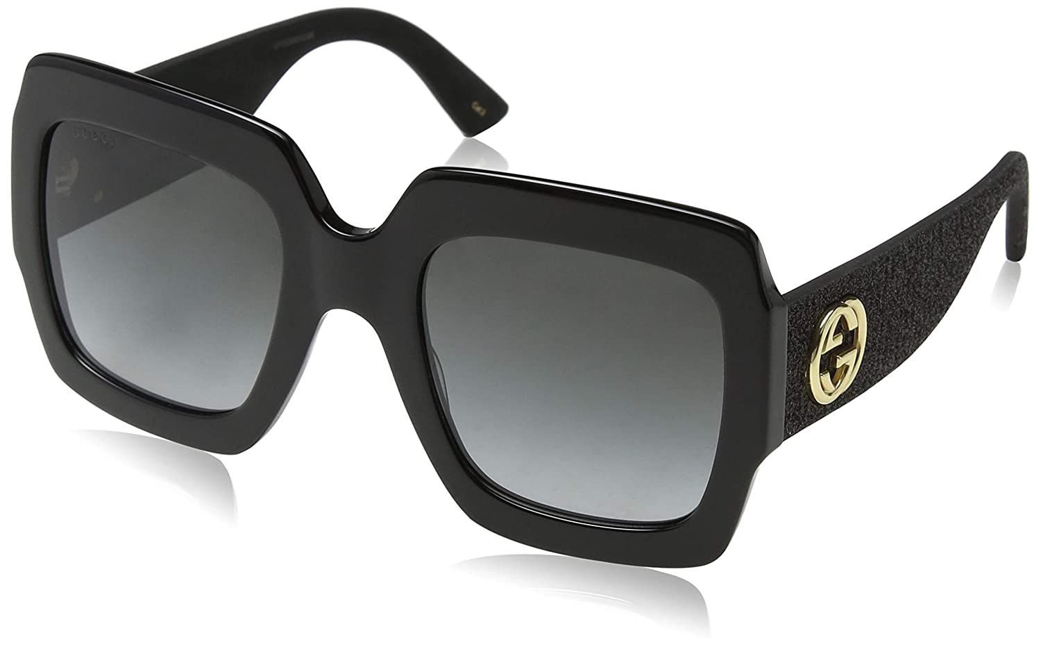 03bed714c56 Amazon.com  Gucci GG0102S 001 Black Grey GG0102S Square Sunglasses Lens  Category 3 Size 5  Clothing