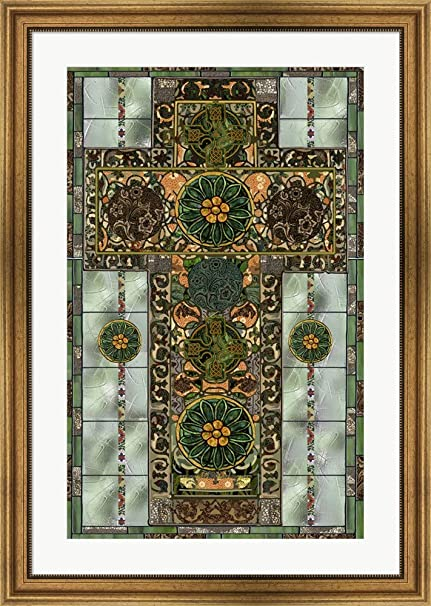 bdde4f967baf Image Unavailable. Image not available for. Color  Celtic Cross by Mindy  Sommers Framed Art Print Wall Picture