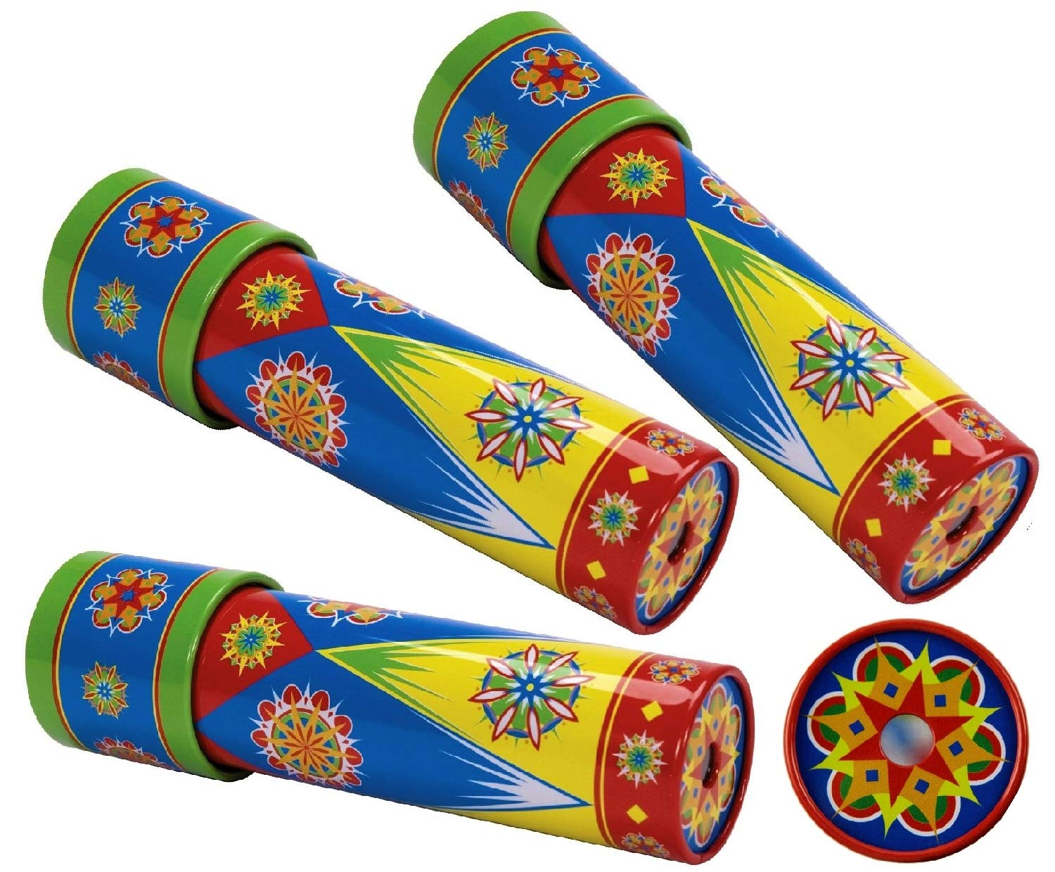 Schylling Classic Tin Kaleidoscope Party Set Bundle Includes Exclusive Matty's Toy Stop Storage Bag - 3 Pack by Schylling (Image #1)
