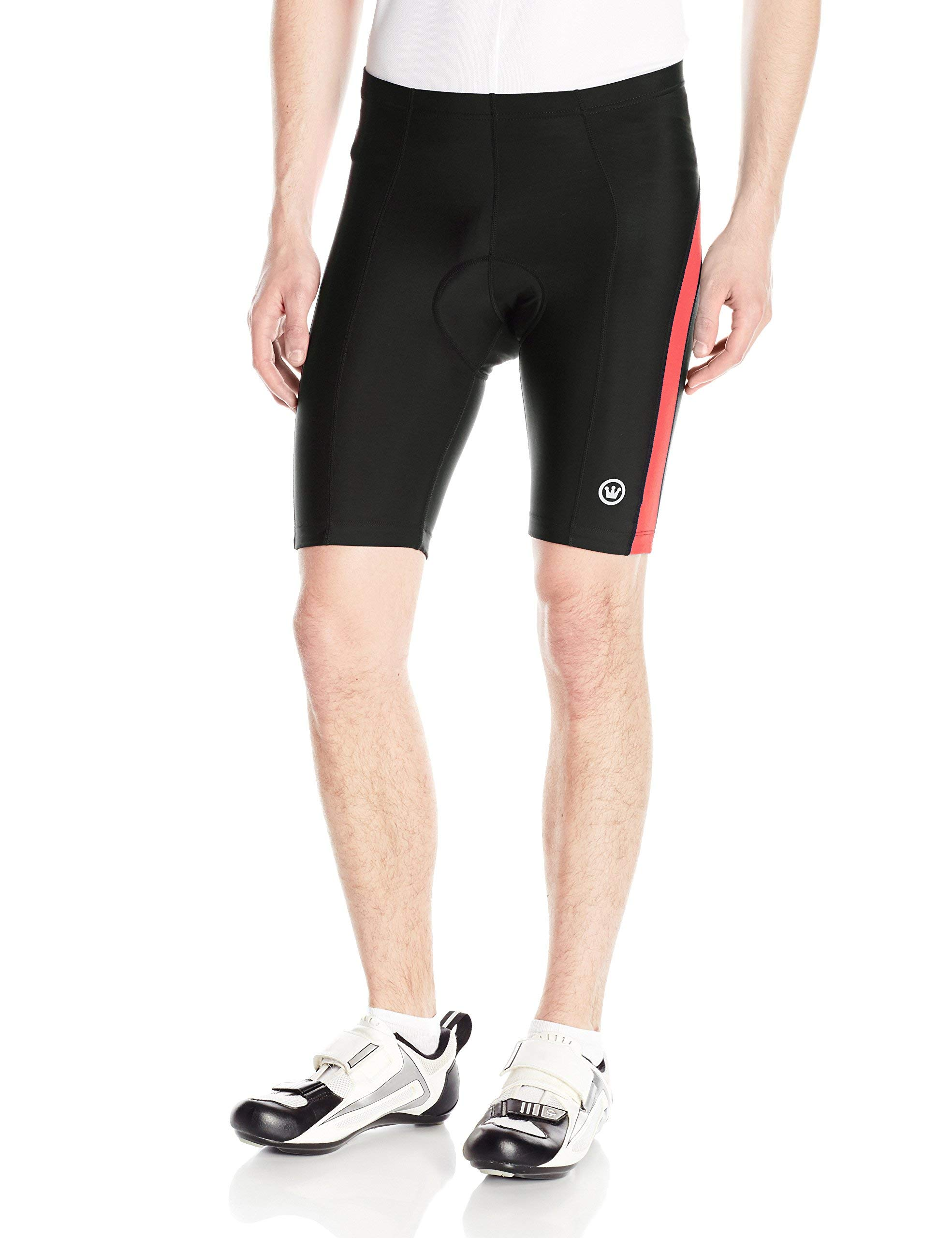 CANARI Men's Blade Gel Shorts, Neon Red Hot, Medium