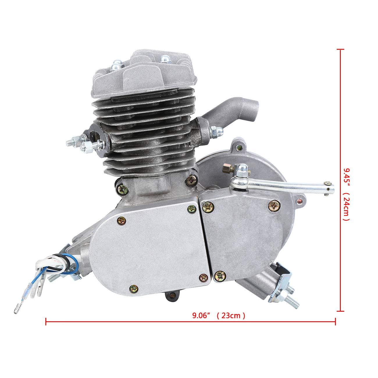 Sange Kit de conversión del motor de gasolina y gasolina del ciclo del pedal de 2 tiempos Kit de motor motorizado de refrigeración por aire para bicicletas ...