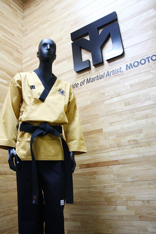 Mooto Poomsae Dare Uniforme dobok kukkiwon Coreano Taekwondo Uomo